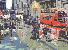 Bank Station London Rainy Afternoon