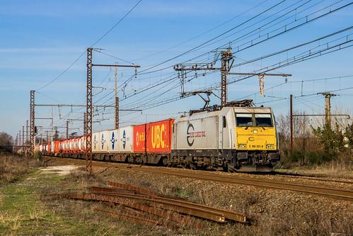 11 janvier 2020 E 186 301-8 Train 41232 Irun -> Stiring-Wendel Saint-Loubès (33)