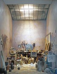 Maquette de l'atelier de Francis Bacon au Centre Georges Pompidou (Paris)