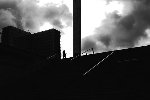 Under the agitated sky