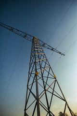 An overhead electricity line