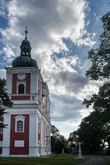 """Krnov, Kostel Panny Marie Sedmibolestné / Jägerndorf, Wallfahrtskirche der """"Heiligen Mutter Gottes im Schmerz"""" (1722)"""