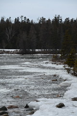 Ice in Bass Cove, Drummond Island