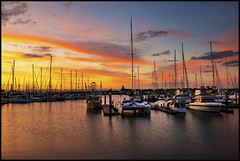 Scarborough Marina East sunset cloud-3=