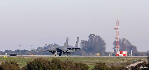 United States Air Force McDonnell Douglas F-15E Strike Eagle SJ/89-0483, 335 FS, 4 FW at NAS Rota/LERT