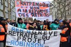 Retraites Manifestation du samedi 11 janvier contre la réforme des retraites à Paris