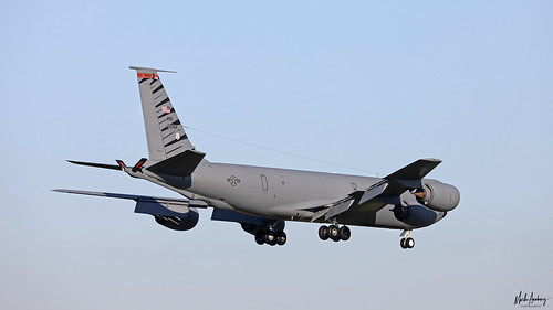 United States Air Force Boeing KC-135R Stratotanker 60-0366 on finals for NAS Rota/LERT