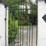 The Gate to a set of Streamline Modern Flats - Elwood