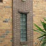 Glass Brick Window Detail of a set of Streamline Moderne Flats - Elwood