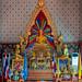 Colorful Altar, Wat Chaeng Sirisamphan, Fitbit Walk, Phra Nangklao Bridge