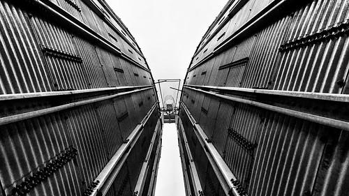Between the grain storages
