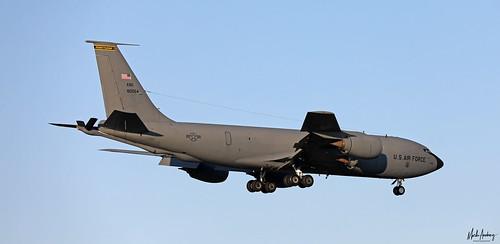 United States Air Force Boeing KC-135R Stratotanker 58-0054 on finals for NAS Rota/LERT