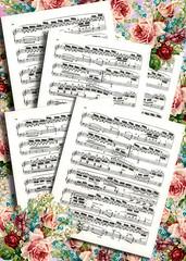 Music Roses Scrapbook Vintage Edited 2020