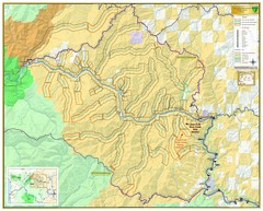 East Fork Rum Creek Wild and Scenic River Map