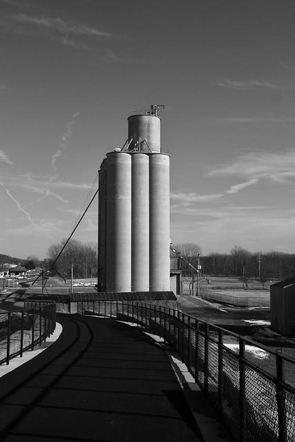Old Grain Elevator (B&W)