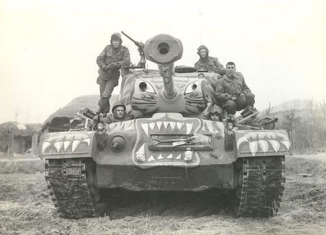 "captain-price-official: M26 Pershing with ""tiger"" livery in Korea, 1950"
