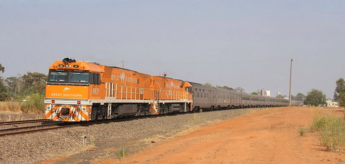 NR31 & NR30 WAITING TO DEPART GULGONG WITH 6AB8 'GREAT SOUTHERN TOUR TRAIN 12th Jan 2020.