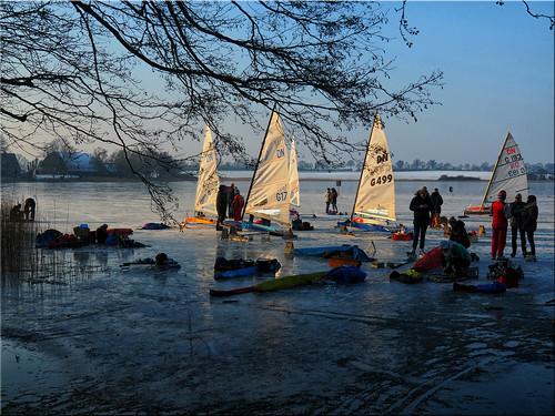 Memory of winter 2018 - Ice sailing