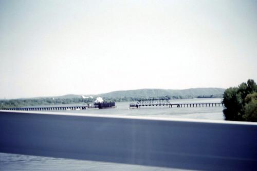 MILW Pontoon Bridge, Marquette, IA 05-23-1961