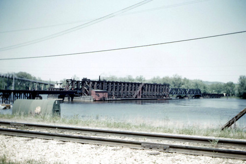 MILW Pontoon Bridge, Prairie du Chien, WI 05-23-1961