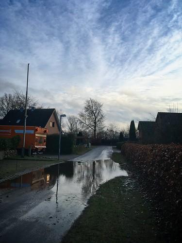 Straße unter Wasser |  14. Januar 2020 | Bornhöved - Kreis Segeberg - Schleswig-Holstein - Deutschland