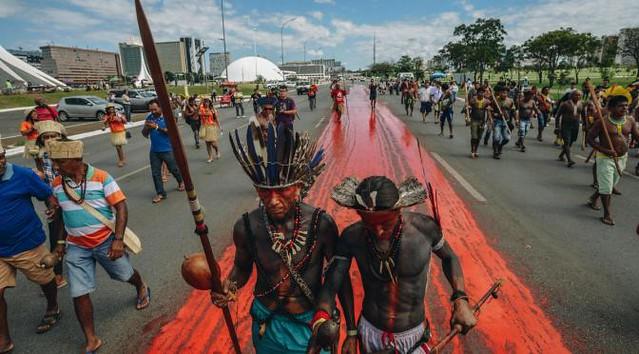 No dia 2 de janeiro, cerca de 180 famílias Guarani e Kaiowá sofreram ofensiva de seguranças privados em Dourados (MS) - Créditos: Foto: Mobilização Nacional Indígena