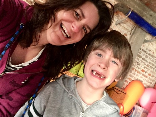 Son and mum yoga date!