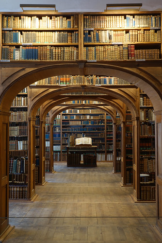 view in a old library