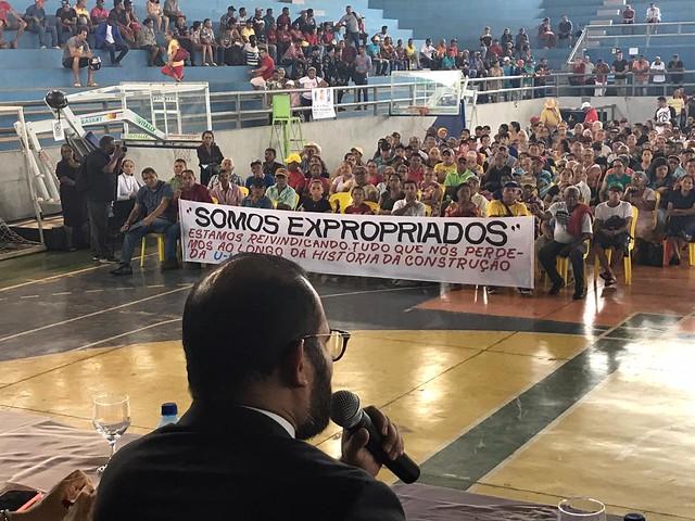 Mais de mil pessoas estiveram no evento lutando por seus direitos. A Semas do Pará faltou ao diálogo com as comunidades - Créditos: Helena Palmiquist/MPFPA