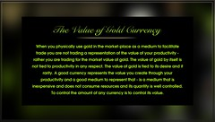 The Value of Gold Currency