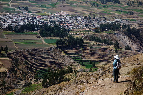 View to Yanque - Walking from Coporaque to Yanque, Colca Canyon, Peru