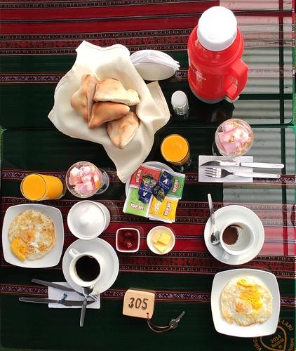 Breakfast - Chivay, Colca Canyon, Peru
