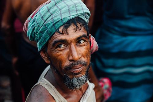 Smiling Stevedore, Sadarghat Chittagong Bangladesh