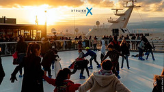 Synthetic skating rink at Village de Noël in Marseille
