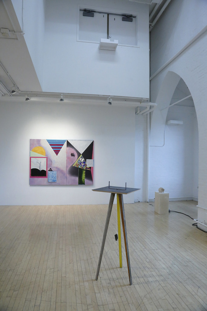M.F.A. exhibition <em>Pure Wobble</em> in Tjaden and Experimental galleries, fall 2019.