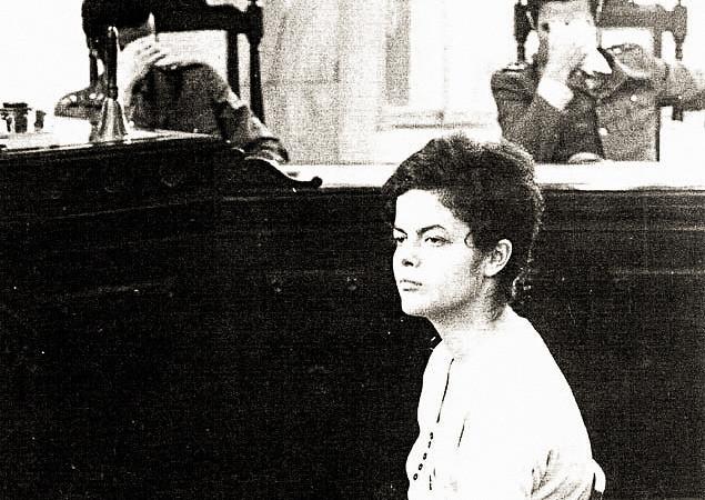 Dilma Rousseff durante auditoria militar do Rio de Janeiro, em 1970 - Créditos: Foto: Arquivo Nacional da Comissão da Verdade