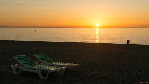 Sunrise, Lever du soleil, Espagne, Costa Del Sol, Torremolinos - 2331