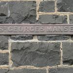 The Brass Plaque of the Former Saint George's Presbyterian Church Manse - Corner of Latrobe Terrace and Ryrie Street, Geelong