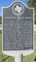 Southern Pacific Depot Marker (Hondo, Texas)