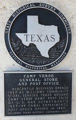 Camp Verde General Store and Post Office 78010-9800 Marker (Camp Verde, Texas)