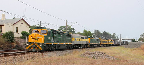 C510 + GM27 + RL305 + G513 & GM22 SSR #4NK3 NEWCASTLE TO DIMBOOLA EMPTY GRAIN - TERALBA 15th Jan 2020.