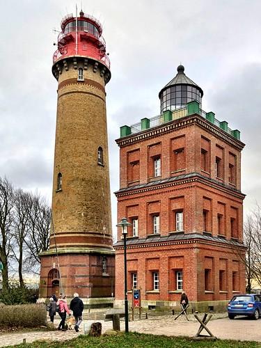 The Kap Arkona lighthouses