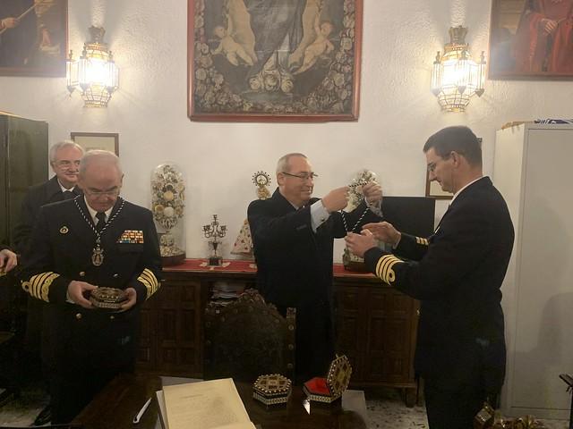 Photo:El Almirante Jefe de Estado Mayor de la Armada visita la Archicofradía del Rosario de la Iglesia de Santo Domingo en Granada 14 enero 2020 By Armada Española