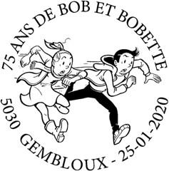 Cachet Bob & Bobette rond