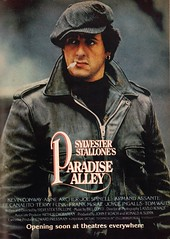 1978 Paradise Alley Poster with Sylvester Stallone Advertisement Playboy November 1978