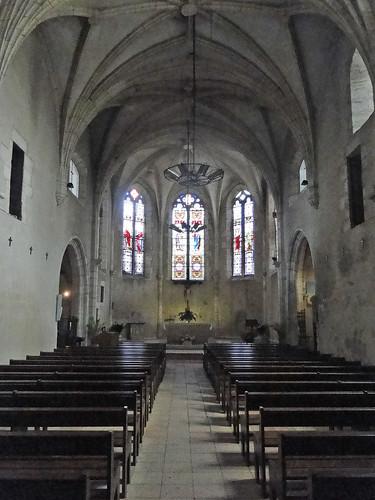Lot-et-Garonne. Pujols. Intérieur de l'église Saint-Nicolas