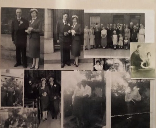 Mr and Mrs ( McCord )  Byrne  Wedding day 1956 Thanks to Eddie Byrne for the Photo