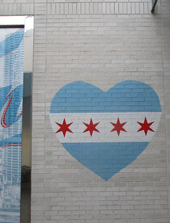 Chicago flag heart, Old Orchard Mall