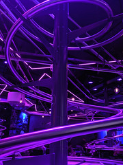 Food delivery rollercoaster tracks at the Rollercoaster Restaurant