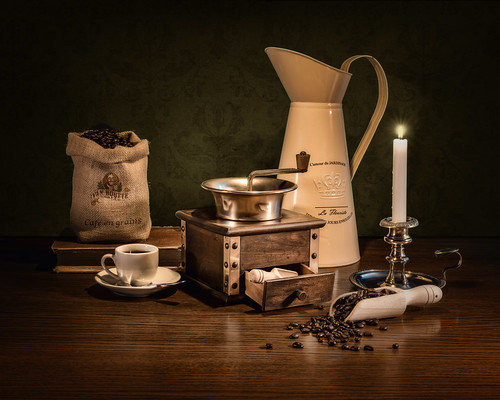 Still Life with Coffee Mill